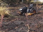 Firefighters: Lawnmower sparked grass fire