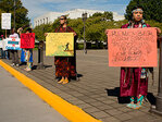 Tribes gather at Capitol to protest water bottling deal