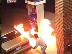 Driver tries to kill spider with lighter, burns gas pump