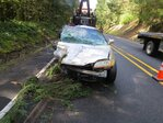 1 dead after Hwy 58 crash; driver charged with manslaugter, DUII
