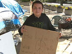 10-year-old homeless advocate spends weekend on the streets