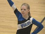 Cheer squad: Autistic teammate gives it her all