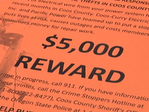 $5K reward:  'Going to get electrocuted or they're going to get caught'