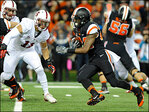 With 3 TDs, No. 8 Stanford runs past Oregon State 20-12