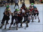 Derby teams clash on the flat track at 3rd Big O Tournament