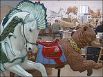 Volunteers create carousel creatures for downtown Albany museum