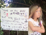6-year-old shames thieves who stole bikes