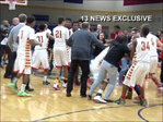 Fight breaks out after close basketball game