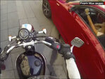 Biker throws trash at litterbugs caught redhanded