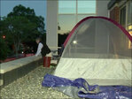 Principal loses bet to students; sleeps on school roof
