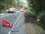 HazMat crews called to clean fuel spill in deadly Hwy 38 crash
