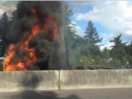 Highway 26 semi-truck fire causes Portland afternoon traffic snarl