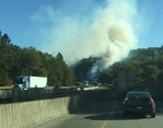 Crews mopping up I-5 fire at milepost 118; southbound traffic slowed