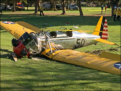 Harrison Ford injured in small plane crash