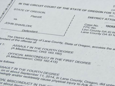 Eugene Police officer charged with misdemeanor assault, misconduct