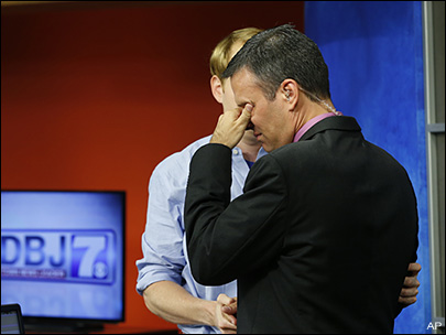Memories, tears mark newscast a day after on-air shootings