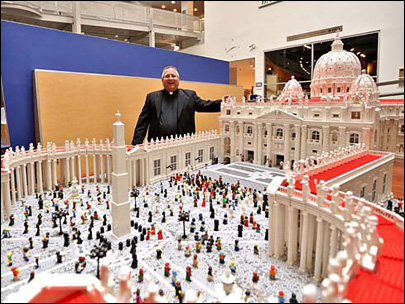 Pastor creates Lego Vatican for Pope