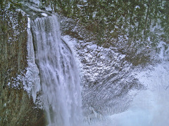Salt Creek Falls in snow