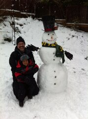 Snow Day with Grampa!