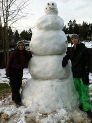 Biggest snowman ever!