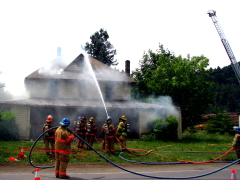 Controlled House on Fire