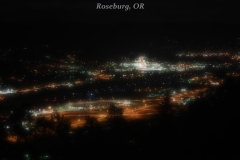 City lights of Roseburg