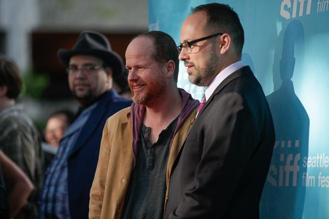 Joss Whedon and Carl Spence