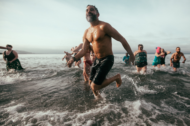 Polar Bear Plunge at Golden Gardens