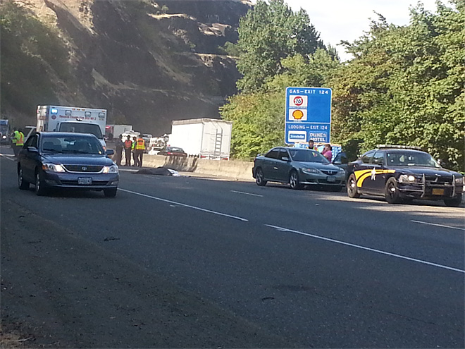 Man struck, killed by vehicle on I-5 in Roseburg