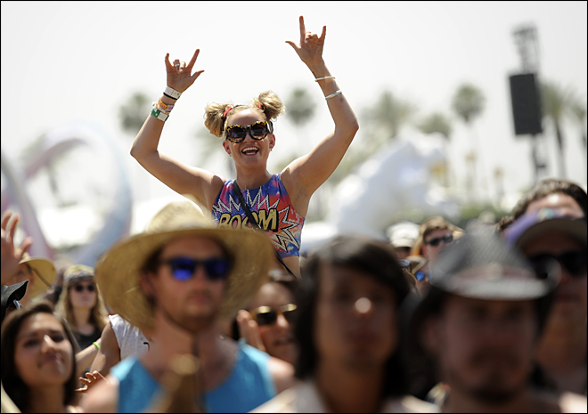 Coachella's young audience a marketers paradise