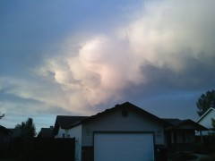Cloud formations, West Eugene