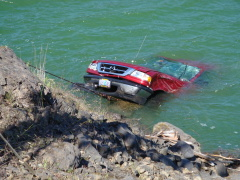 Truck retrieved from Dexter lake