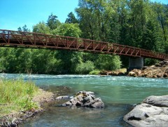 Bridge over the Willamette, Oakridge