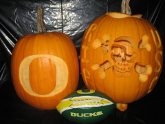 Oregon & R.I.P. USC Pumpkins