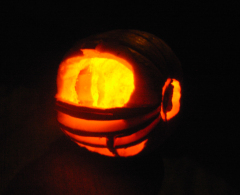 Oregon Duck Helmet Pumpkin