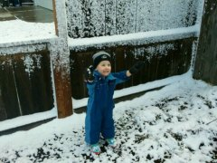 Snow day fun! Carter's first snow