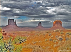 Angry Sky At Monument Valley
