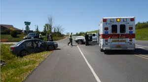 Three people in hospital after two-vehicle crash in Winston