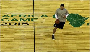 NBA's current, former stars put on show in Africa exhibition