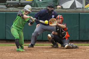 Ducks open softball season with sweep of Beavers