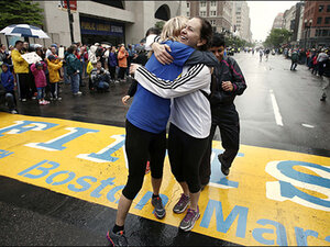 Thousands walk, run final mile of Boston Marathon