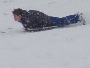 Photos: Sledding at Tugman Park in Eugene