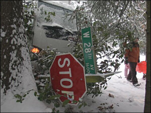 Photos: It's 'snow' going on slick western Oregon roads