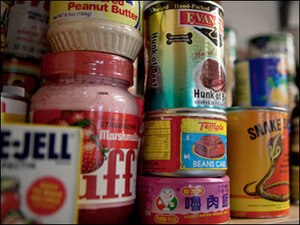 Photos: Food drive rejects