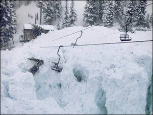 Avalanche wipes out part of Crystal Mountain chair lift