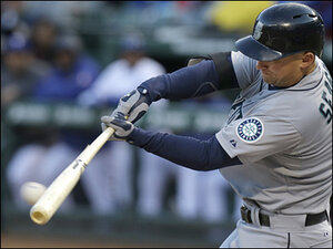 Mariners add run on replay, beat Rangers 7-1