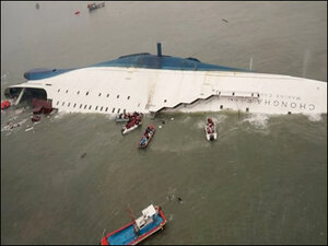 Death toll rises, 240 still missing in sunken South Korea ferry