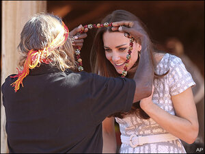 Photos: British royals get aboriginal welcome in outback