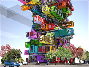 'Jenga' like hotel design an advertiser's dream