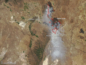 Photos: Oregon wildfires as seen from space